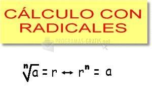 Pantallazo Cálculo con radicales