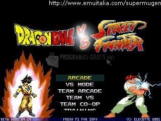 Pantallazo DragonBall vs Street Fighter