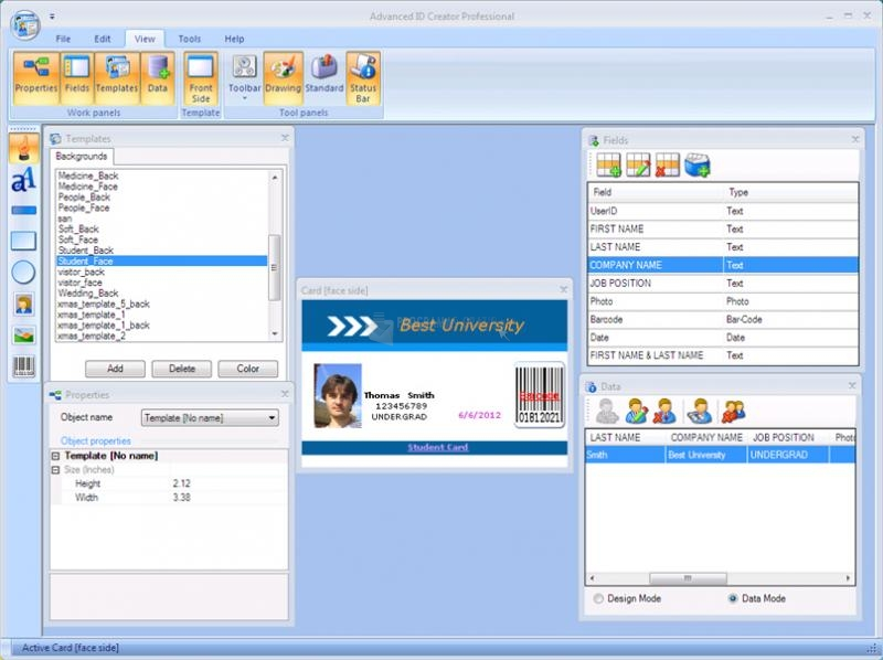 Pantallazo Advanced ID Creator Professional
