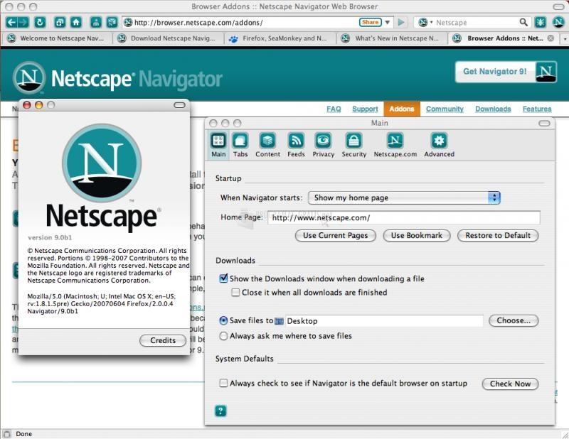 Pantallazo Netscape Navigator