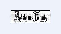 Pantallazo Addams Family Font