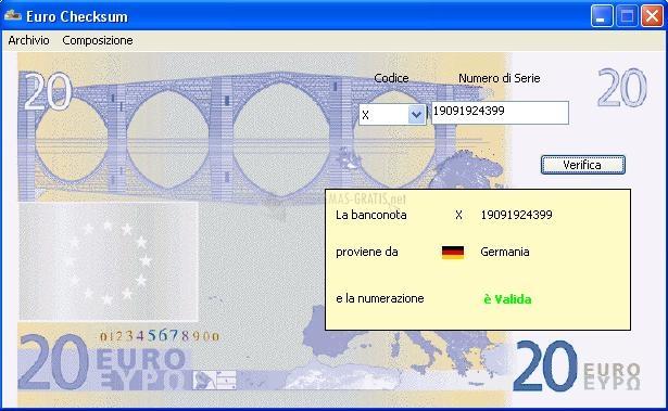 Pantallazo Euro Checksum