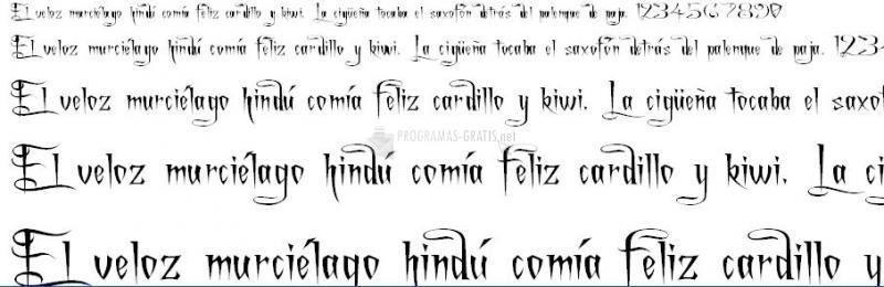 Pantallazo Charming Font