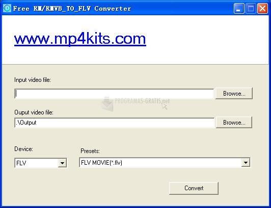 Pantallazo Free RM to FLV Converter
