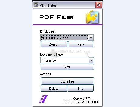 Pantallazo PDF Filer II V