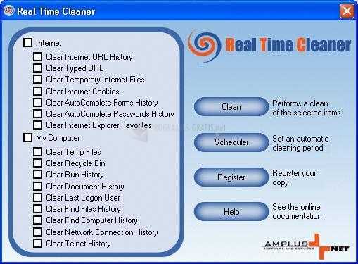 Pantallazo Real Time Cleaner