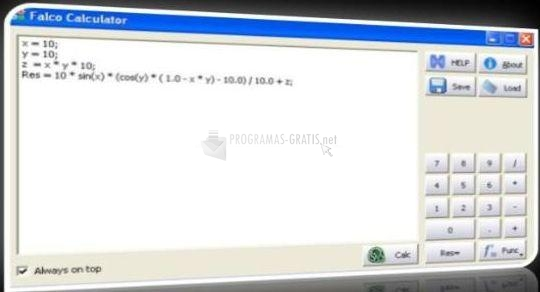 Pantallazo Falco Calculator