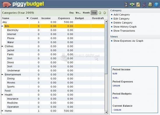 Pantallazo Piggy Budget