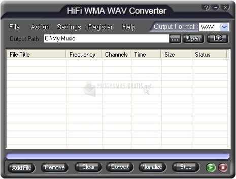 Pantallazo HiFi WMA WAV Converter