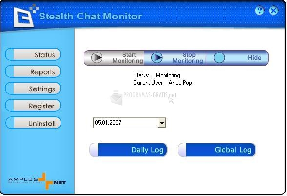 Pantallazo Stealth Chat Monitor