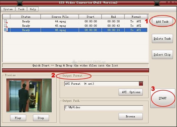 Pantallazo 123 Video Converter
