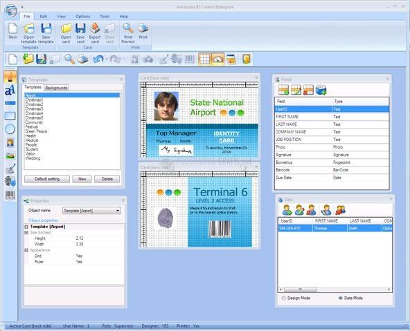 Pantallazo Advanced ID Creator Enterprise