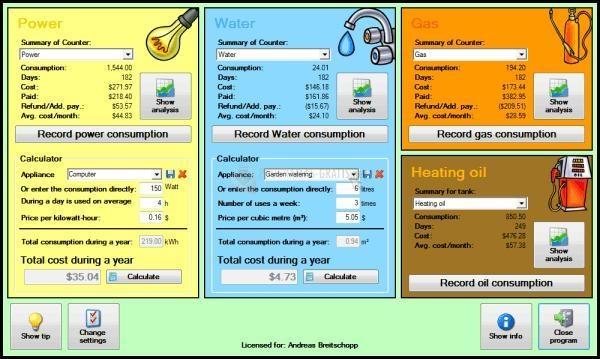 Pantallazo Energy Saving