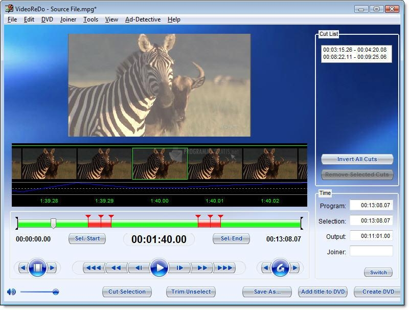 Pantallazo VideoReDo TVSuite
