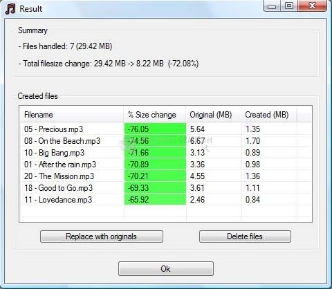Screenshot MP3 Quality Modifier