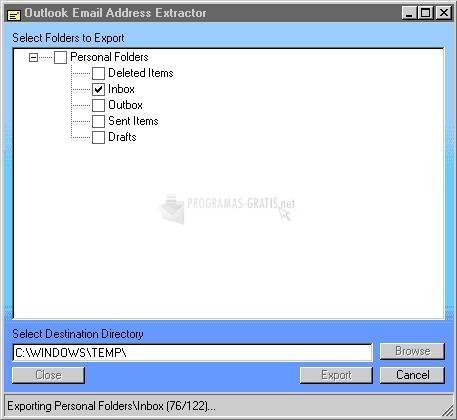 Pantallazo Outlook Extractor