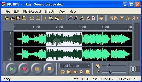Pantallazo Any Sound Recorder