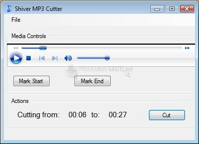 Pantallazo Shiver MP3 Cutter