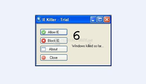 Pantallazo IE Killer
