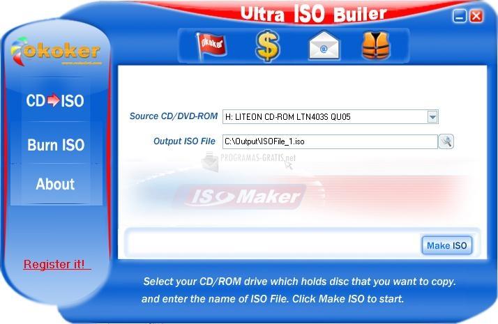 Pantallazo UItra ISO Builder