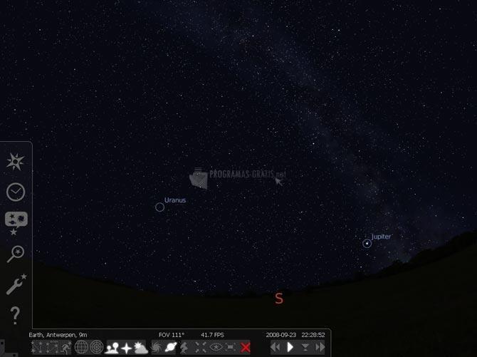 Pantallazo Stellarium
