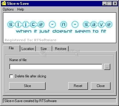 Pantallazo Slice-N-Save