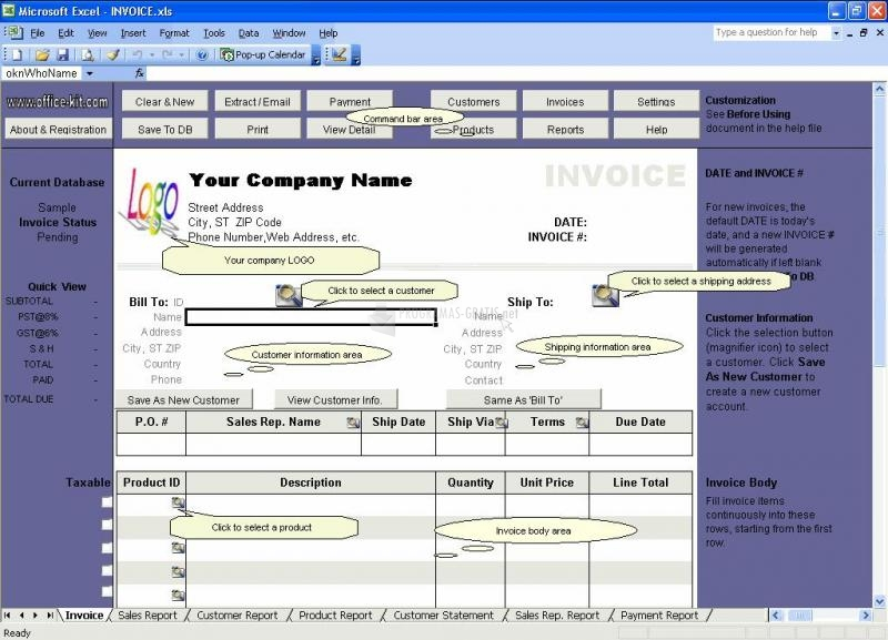 Pantallazo Excel Invoice Manager