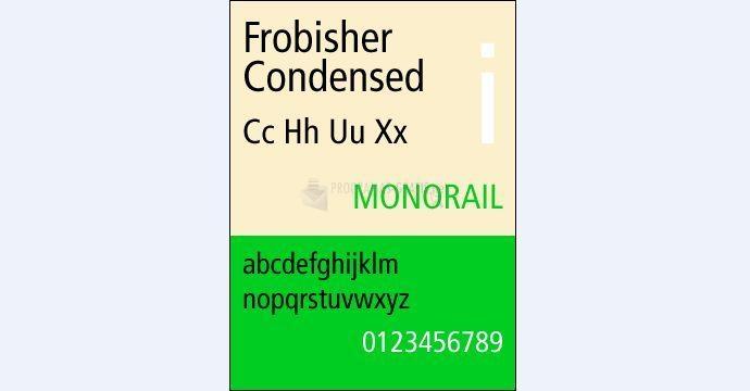 Pantallazo Frobisher Condensed