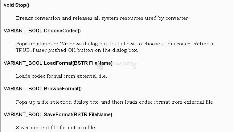 Pantallazo Sound Converter ActiveX