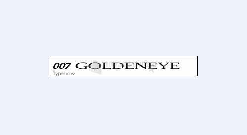 Pantallazo 007 Goldeneye Font