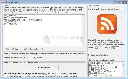 Pantallazo RSS Image Feeder