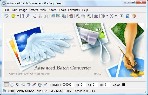 Pantallazo Advanced Batch Converter