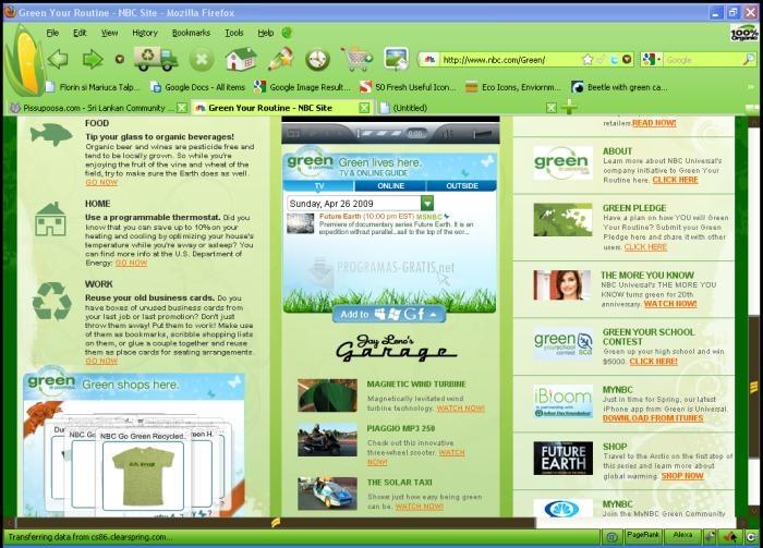 Pantallazo Go Green Firefox