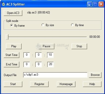 Pantallazo AC3 Splitter