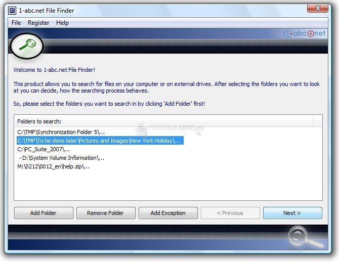 Pantallazo 1-abc.net File Finder