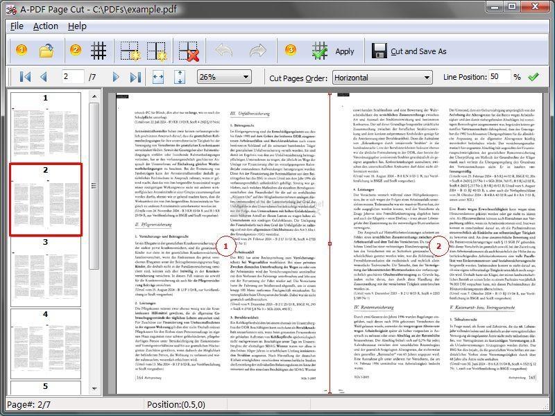 Pantallazo A-PDF Page Cut