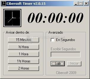 Pantallazo Cibersoft Timer
