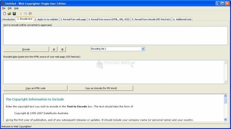 Pantallazo Web Copyrighter