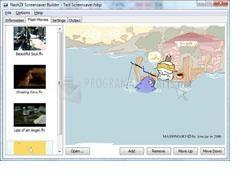 Pantallazo Flash2X Screensaver Builder