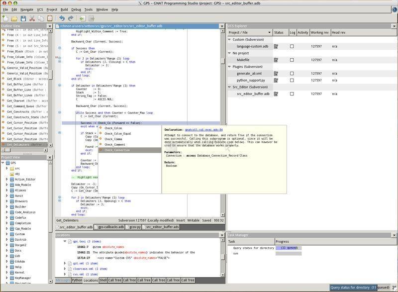 Pantallazo GNAT - Ada compiler