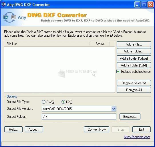 Pantallazo Any DWG DXF Converter