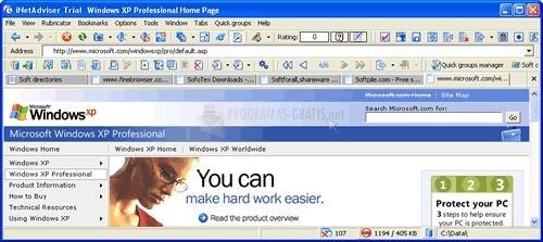 Pantallazo INetAdviser Professional