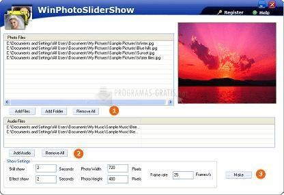 Pantallazo Win Photo Slider Show
