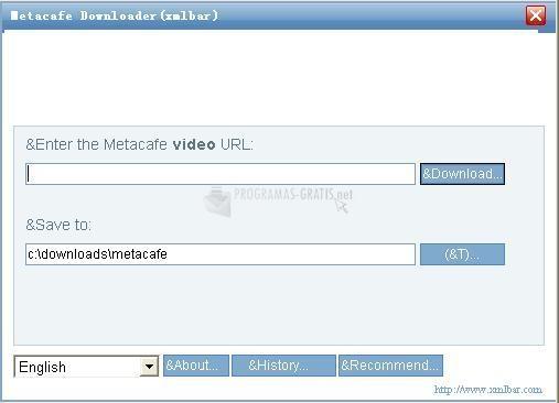 Pantallazo Metacafe Downloader