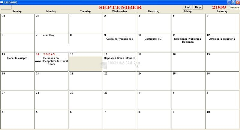 Pantallazo JDMCox Calendar3