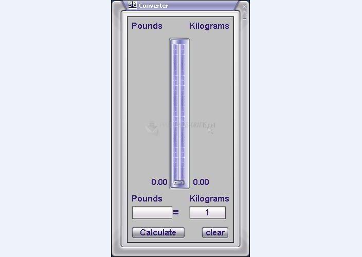 Pantallazo Kilogram Converter