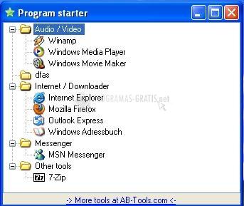 Pantallazo Program Starter
