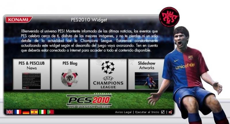 Pantallazo Pro Evolution Soccer 2010 Widget