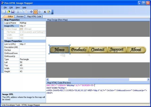 Pantallazo Pos HTML Image Mapper
