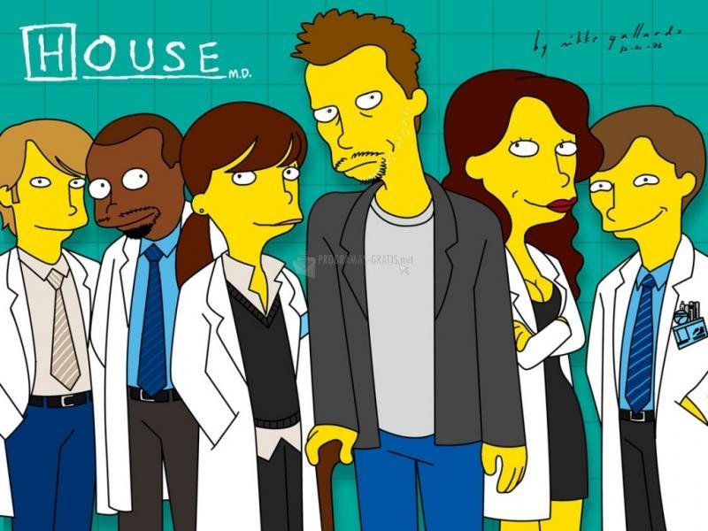 Pantallazo House al estilo Simpson